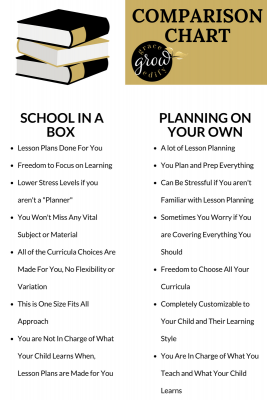 Homeschool In a Box Vs Planning On Your Own