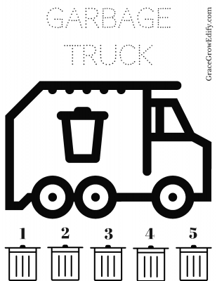 Garbage Truck Obsessed |Toddlers & Trash | Free Printable
