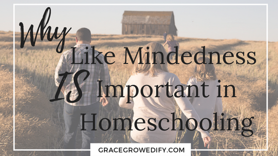Why Like Mindedness IS Important in Homeschooling