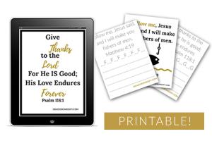 30 Printable Scripture Pack & Copy Work