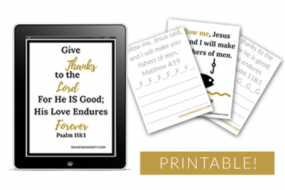 30 Printable Scripture Pack & Copy Work