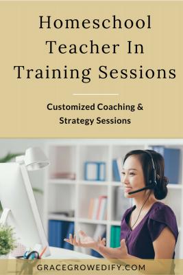 Homeschool Teacher In Training Sessions