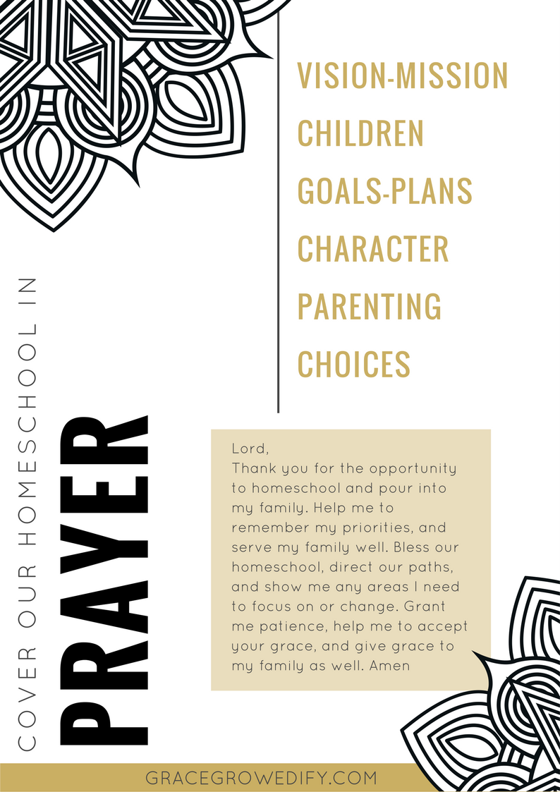 graphic regarding Prayer Printable identified as Go over Your Homeschool in just Prayer Coloring Printable