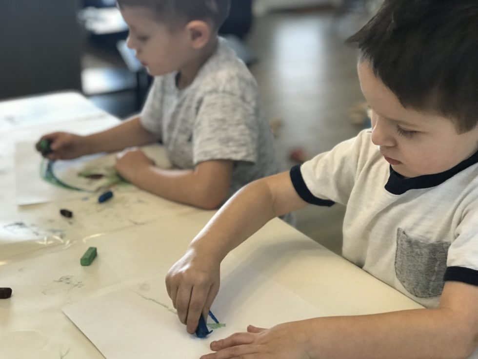 Simple Ways to Make Art Happen in a Nature Based Preschool