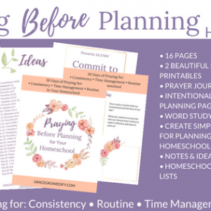 Praying Before Planning for Your Homeschool Workbook