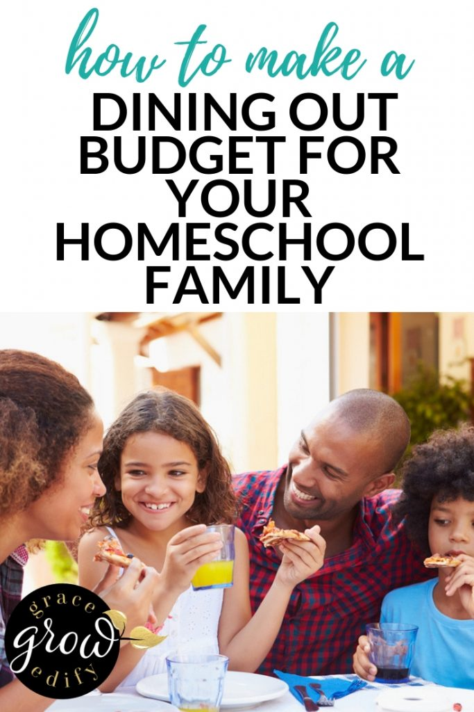 How to make a Dining Out Budget for Your Homeschool Family