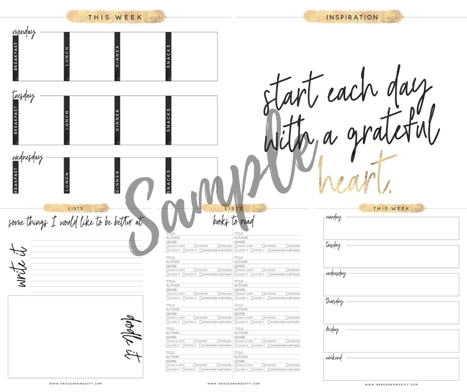 Planner Pages that will make you an organized mom