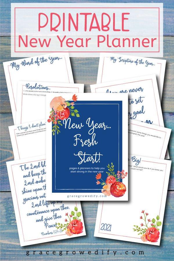 New Year New Start Planner 2021