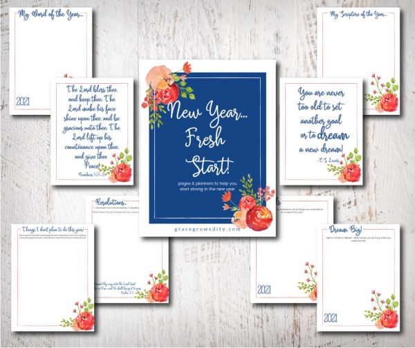 New Year - Fresh Start Planner 2021