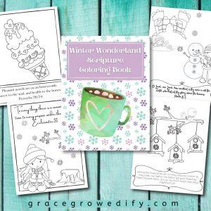 Winter Wonderland Scripture Coloring Book