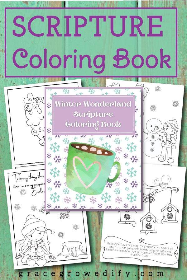 Winter Wonderland Scripture Coloring Book for Kids