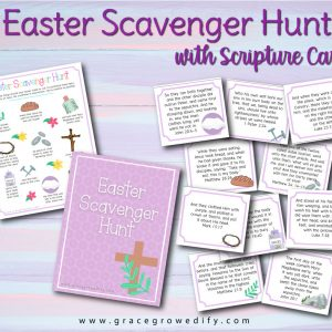 Easter Scavenger Hunt with Scripture Cards
