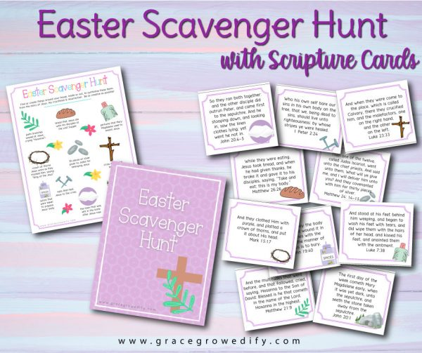 Easter Scavenger Hunt with Scripture Cards