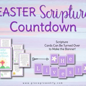 Easter Scripture Countdown Holy Week Banner