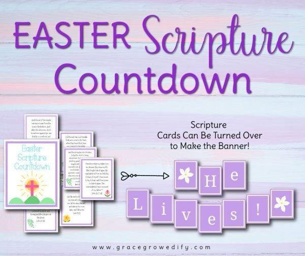Easter Scripture Countdown Holy Week Banner