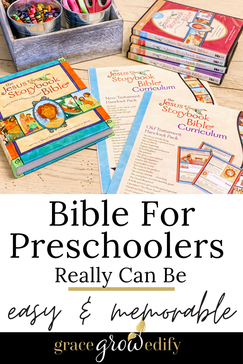 Are you overcomplicating Bible for preschoolers? It doesn't have to be complicated; simplicity is key when introducing the Bible at home. #homeschool #preschool #bibleforkids #biblecurriculum #preschoolbible